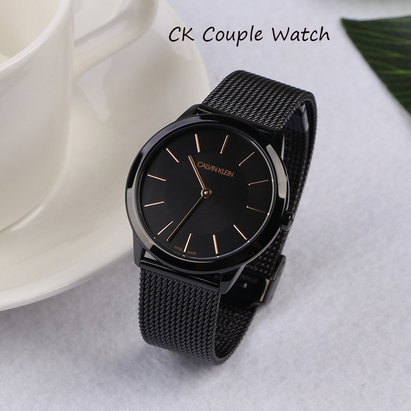 b7a022515a CK orignal couple watch one year warranty Calvin Klein Stainless Steel  Quartz watch
