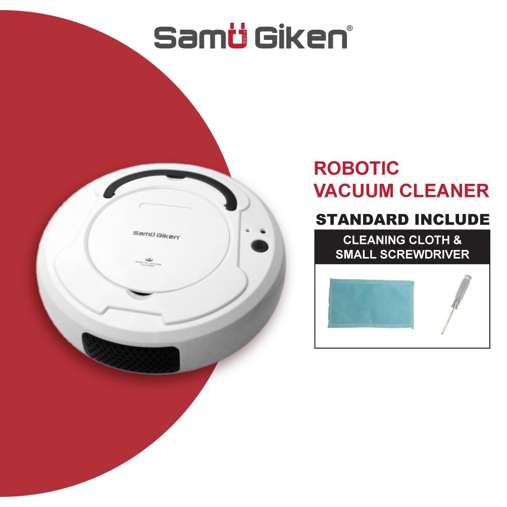 Samu Giken 2 in 1 Robotic Vacuum Cleaner RVCOB8WT