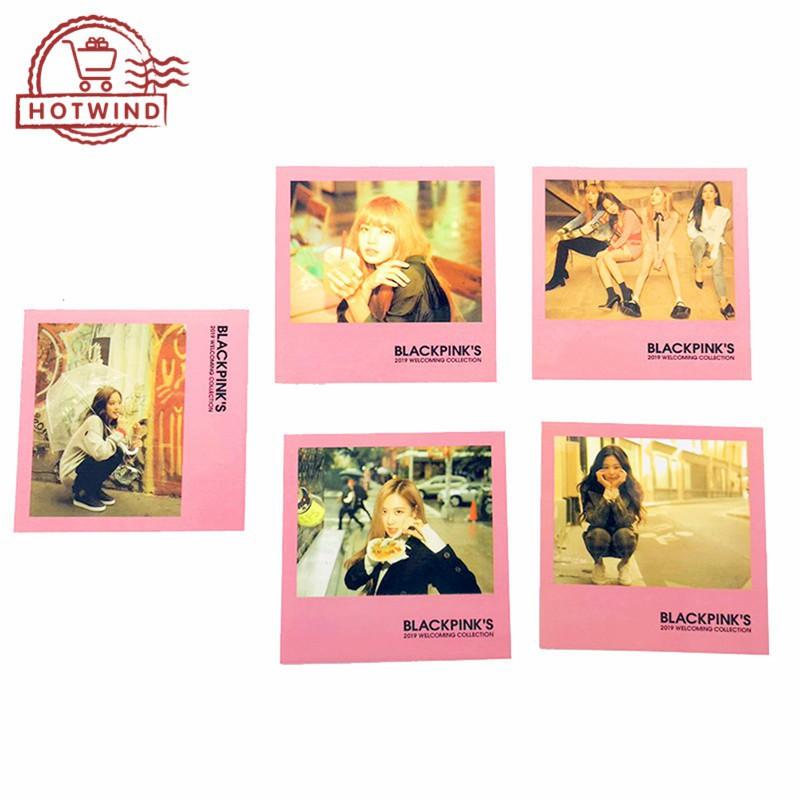 🔥Fashion🔥Hot🔥HW 5PCS KPOP BLACKPINK Postcards LISA ROSE JENNIE Pat  Albums Fans LOMO Cards