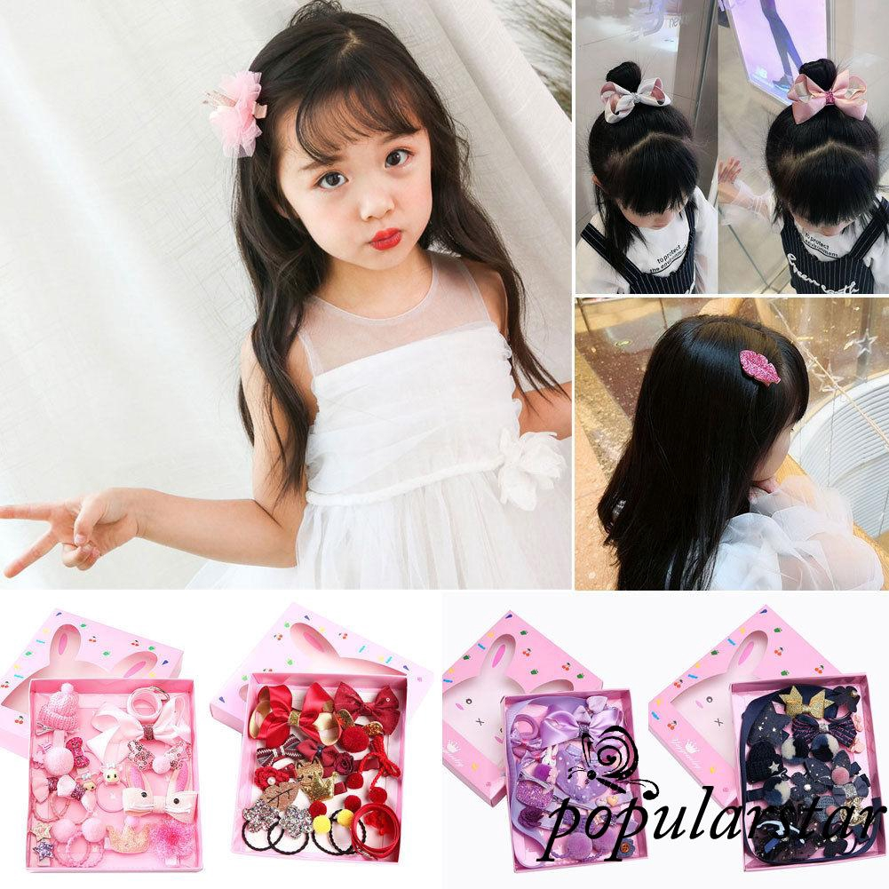 20PCS Mixed Kids Cartoon Styles Baby Girls Hair Pin Hair Clips Toddlers Jewelry