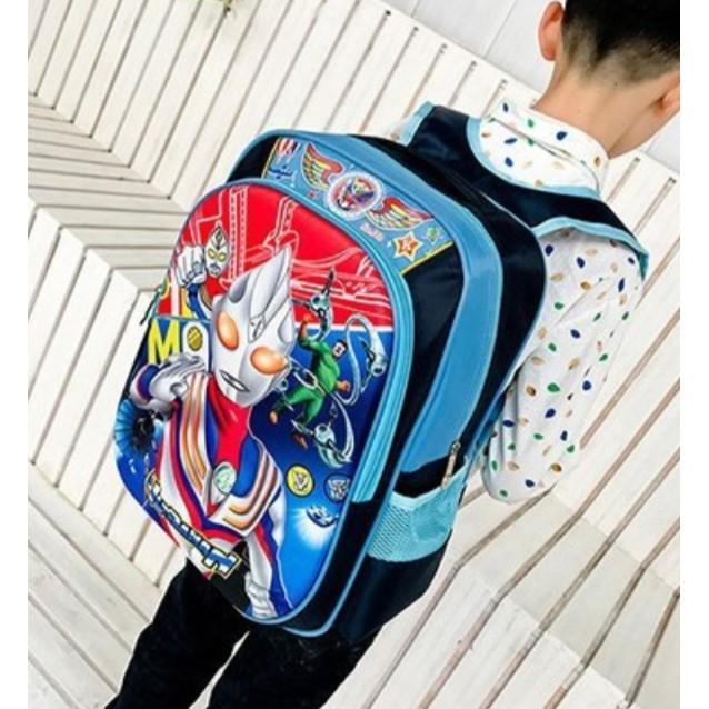🔥M\'SIA STOCK] Cartoon Ultraman Children School Bag -Beg Sekolah Kanak2