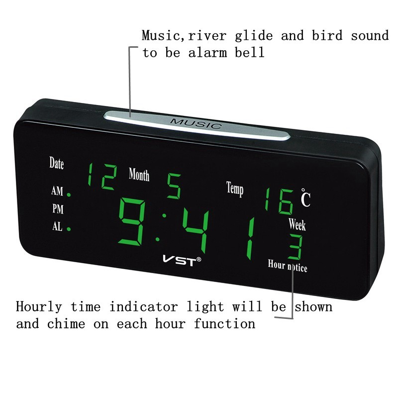 ✑GM VST ST-1 Loud Dual Alarm Clock Automatic Lightness
