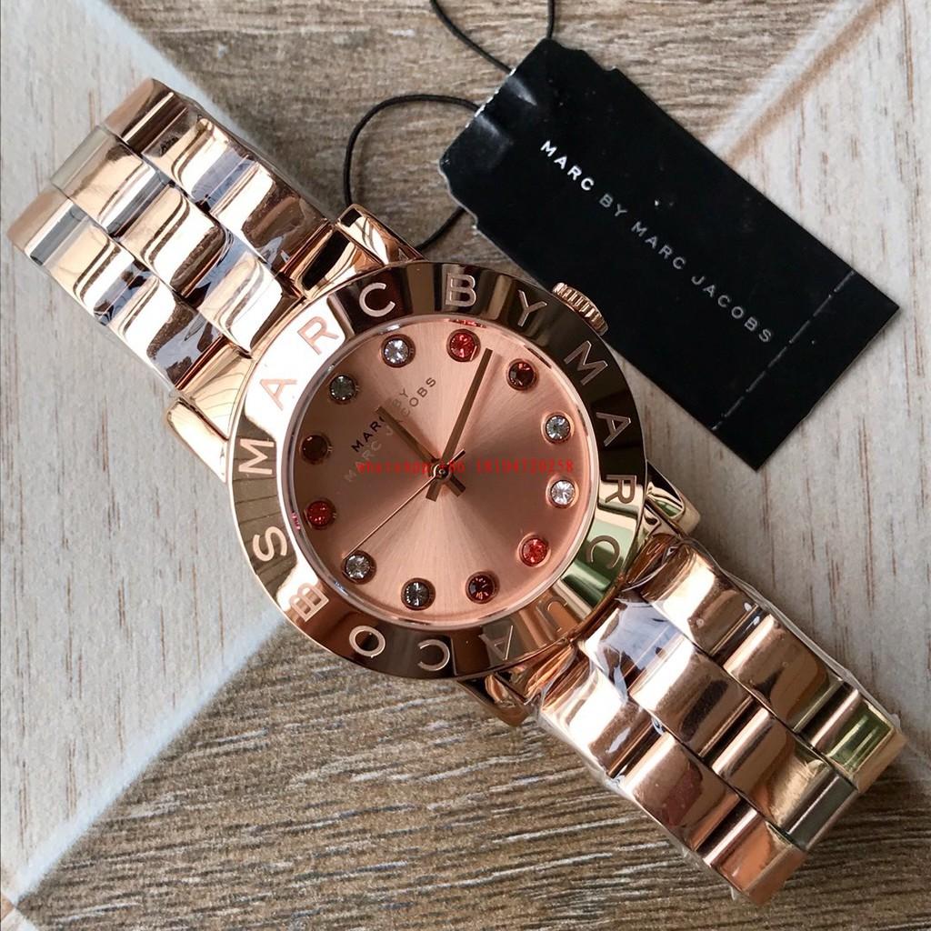 8c834346c35 Marc Jacobs Women s Blade Chrono Rose Gold Two tone Watch MBM3180 ...