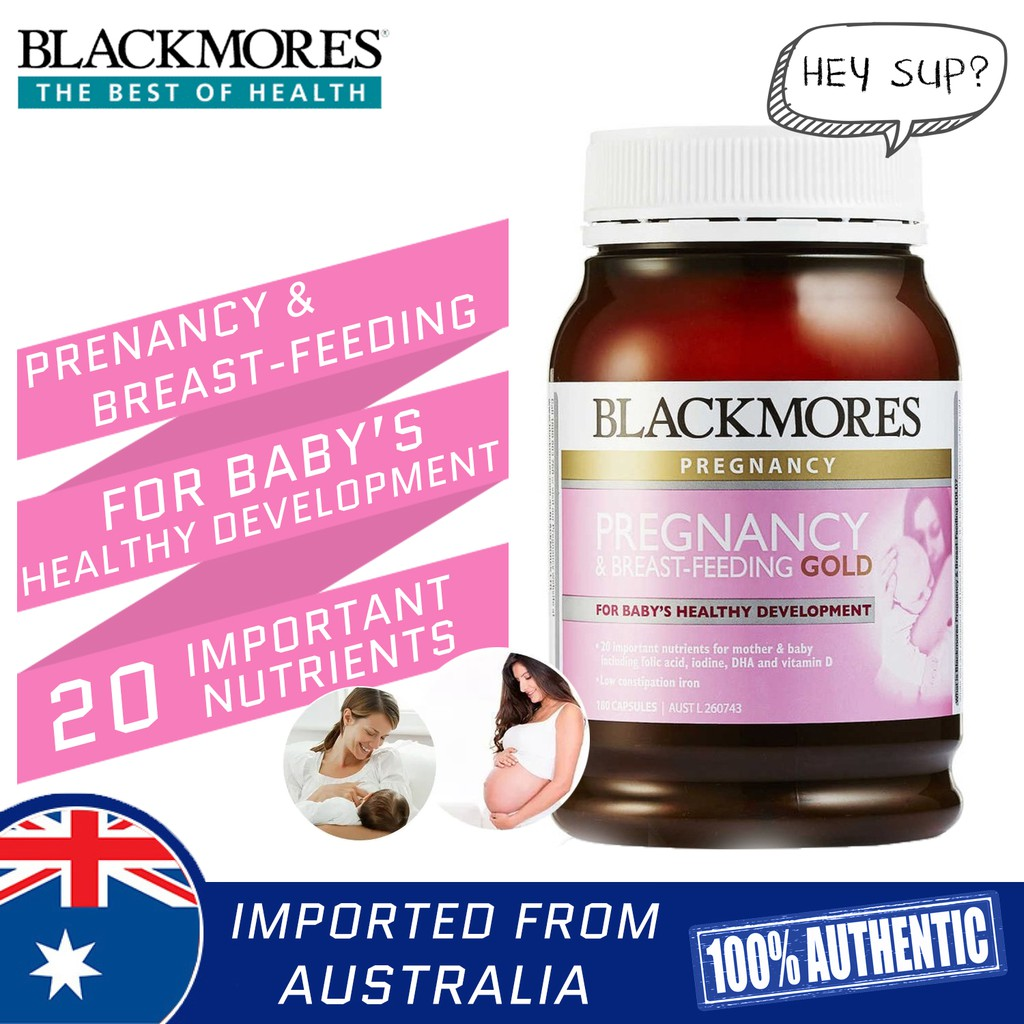 Blackmores Pregnancy And Breast Feeding Gold 180 Capsules For Babys Development Shopee Malaysia