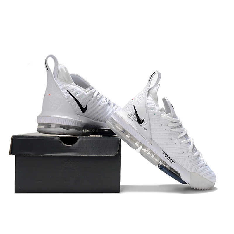 huge selection of 6fb2e 7d3b0 Nike x Off-White Zoom Lebron James 16 LBJ White Basketball Shoes Men Air  Breathable Sport Running Shoes