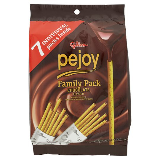 Glico Pejoy Family Pack Chocolate Flavour Biscuit Stick 7 Packs 126g
