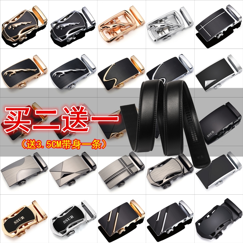 Leather Buckle Automatic Belt Buckle Head Men/'s Accessories Pants Head Belt
