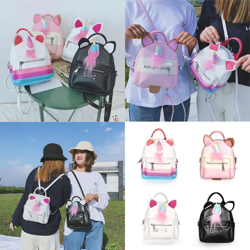 e013c4f8fd0 Girls Mini Unicorn Bag Travel Backpack Bags Women backpack Casual Shoulder  Bag