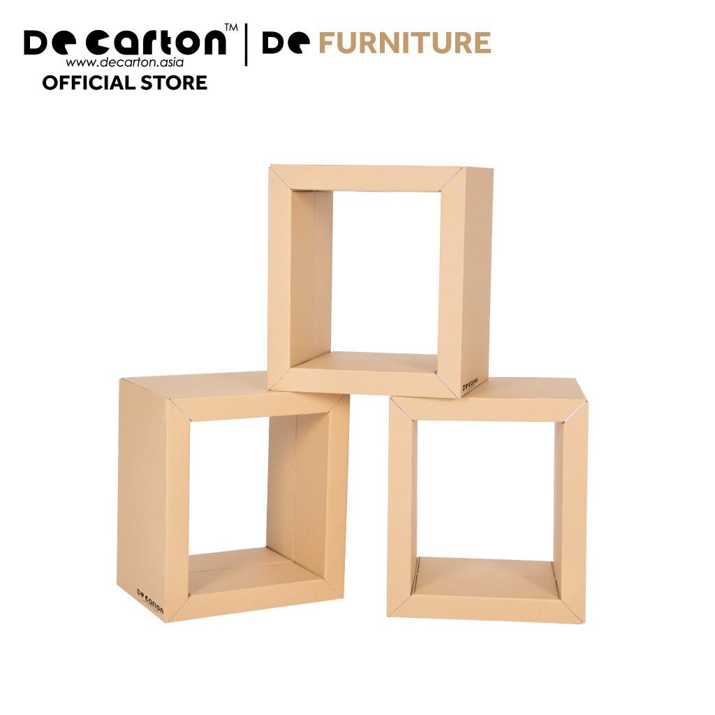 De Carton Cardboard Storage Cube (Set of 3)