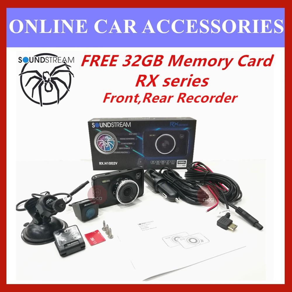 "Soundstream DVR 3.0"" LCD Display 1080P HD Car Front&Rear Driving Recorder Camera DVR RX.H1002V (FREE 32GB Memory Card)"