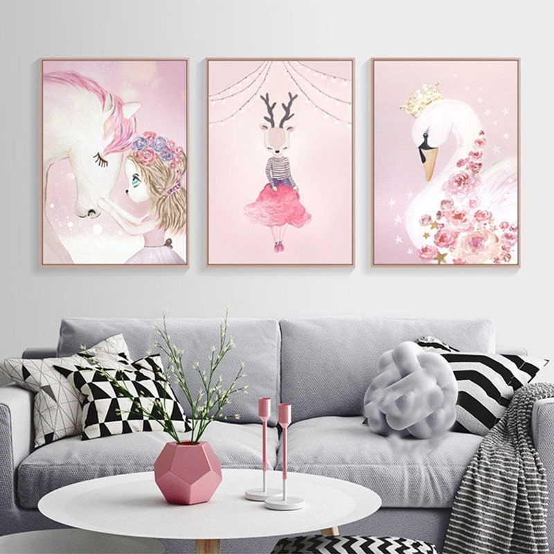 Cute Rabbit Canvas Poster No Frame Painting Art Room Wall Picture Home Decor Hot Home Decor Home Decor Posters Prints