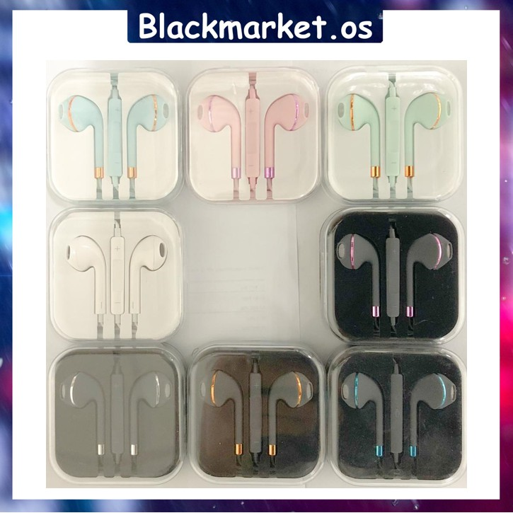 Matte Colour Hifi 3.5mm Wired In-Ear Plug EarPods Earphone for iPhone / Android / Samsung / Huawei