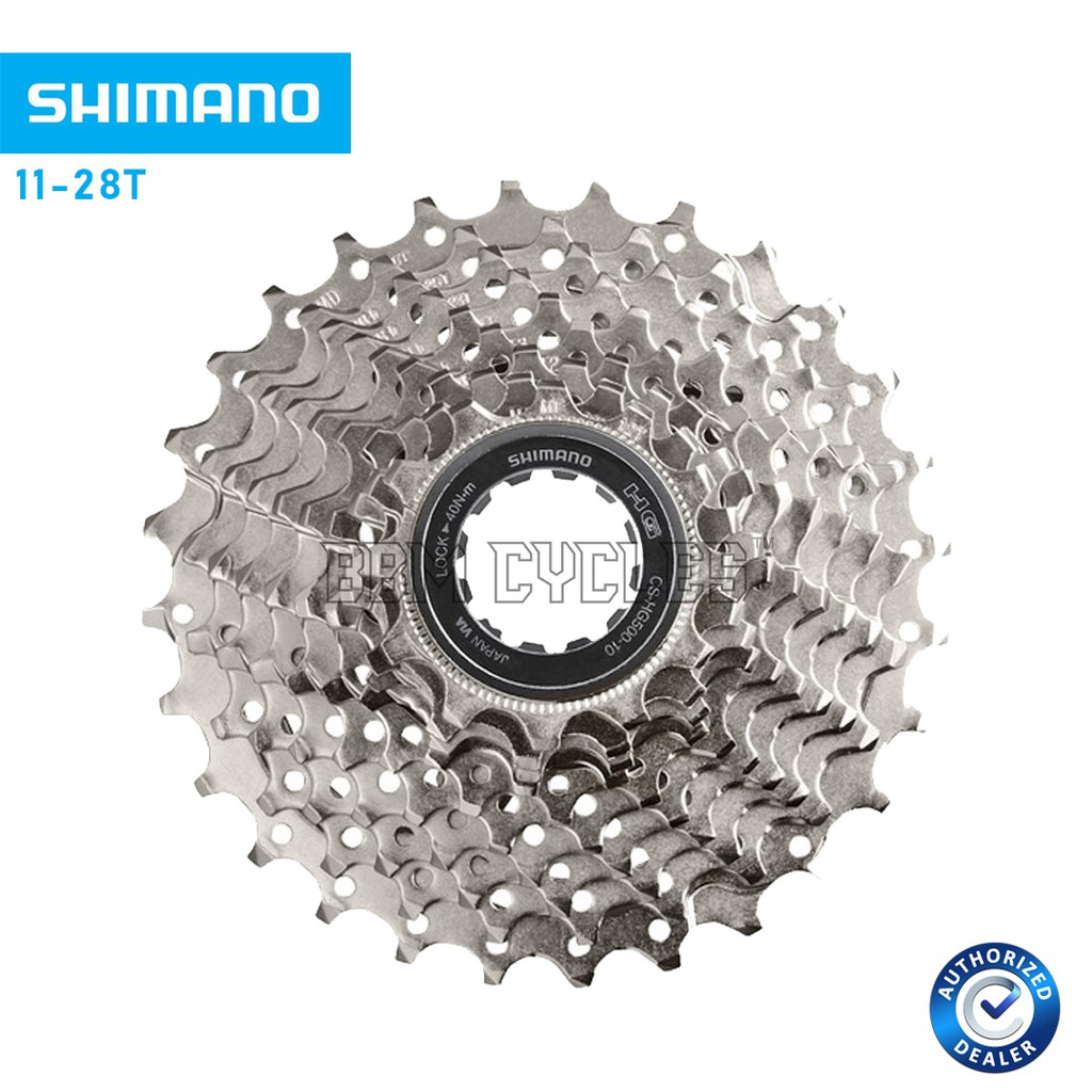 Shimano CS-HG500-10 10 Speed Cassette 11-25T//32T//34T//12-28T Road Bike