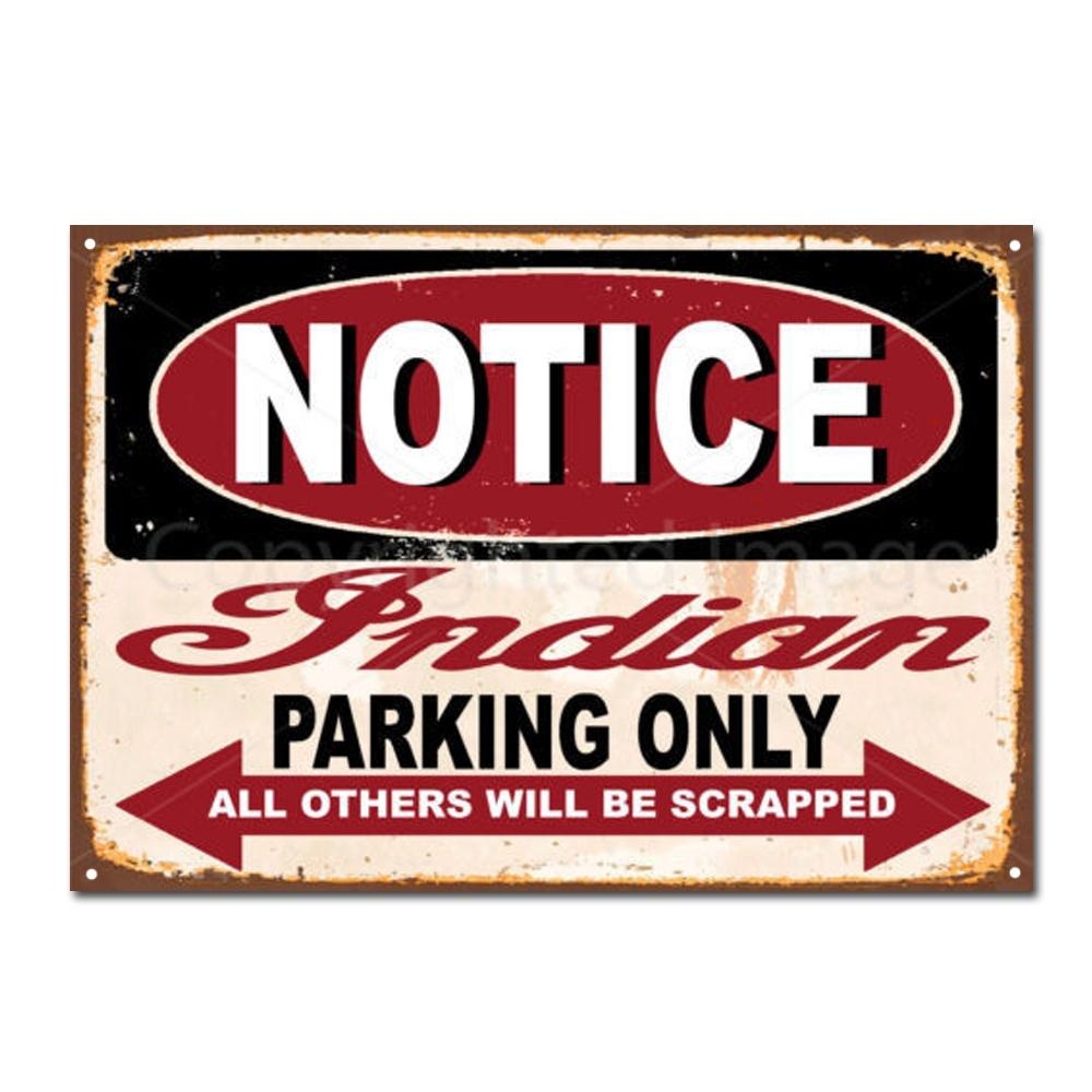 Notice Mini PARKING ONLY Métal Tin Signe Affiche Plaque Murale