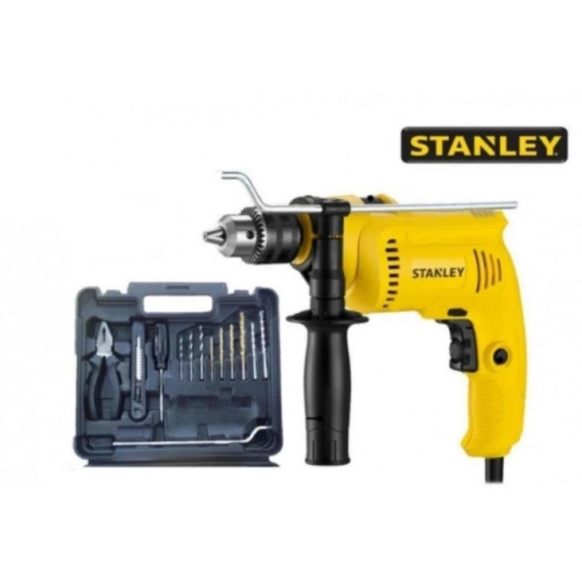 Stanley SDH600KV 13MM 550W Percussion Hammer Impact Drill SET SCREWDRIVER