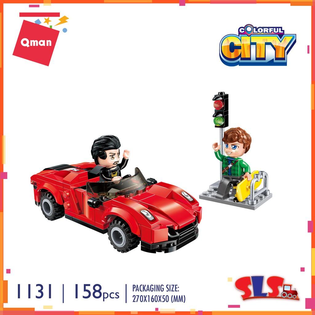 ENLIGHTEN 158 pcs  Kids Building Toys Blocks DIY Adult Puzzle Red Car 1131