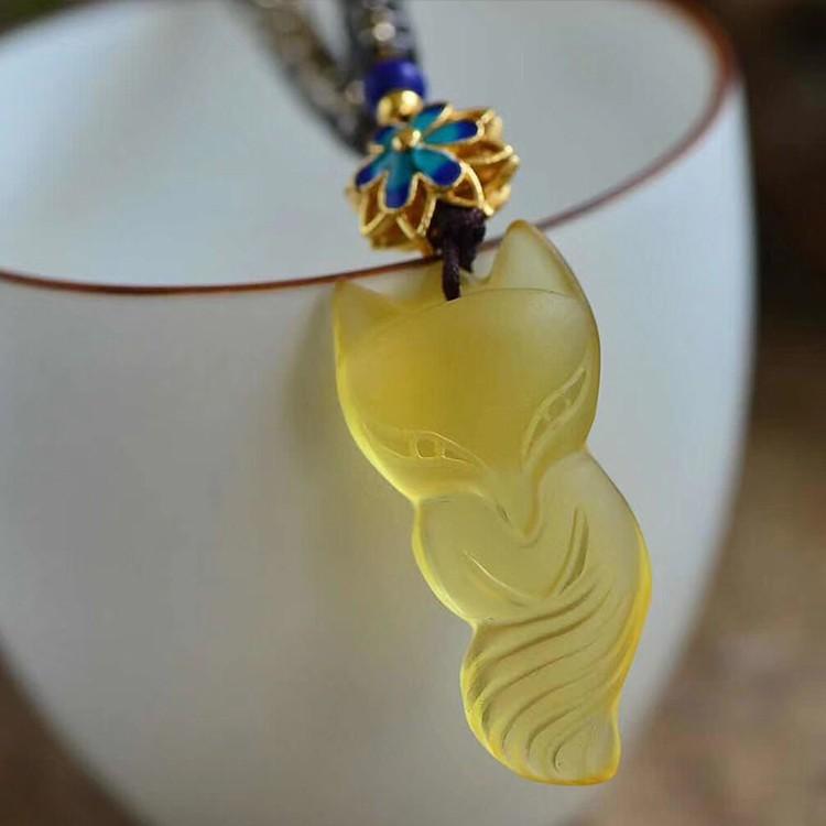 a1650faf8 Yellow crystal fox pendant female models | Shopee Malaysia