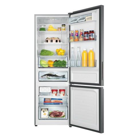 Haier 317L 2 Door Metal Refrigerator Fridge Peti Sejuk with Twin Inverter Technology HRF-IM338BM