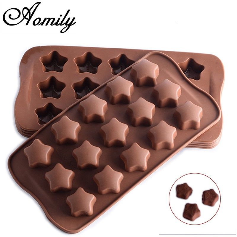 DIY Chocolate Home Kitchen Ice Cube Fondant Cake Soap Mould Cookie Silicone