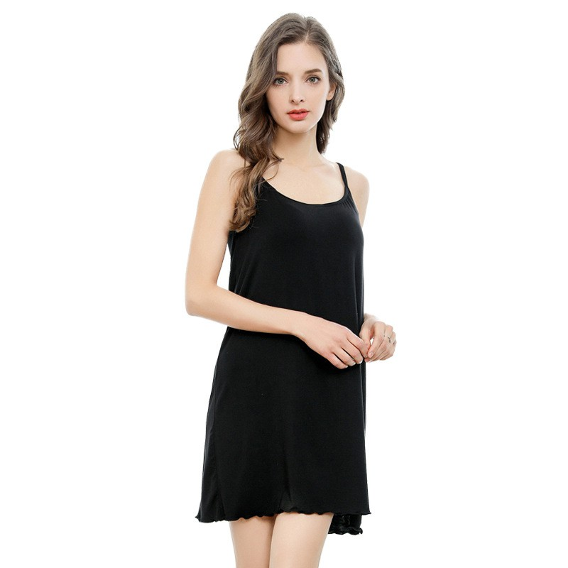 fa83b08b4143e Women's Lace Silk Full Slip Sleepwear   Shopee Malaysia