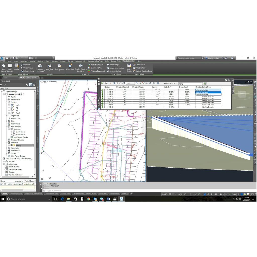 [GENUINE] Autodesk AutoCAD Civil 3D 2020 | 2019 | 2018 3-Years License