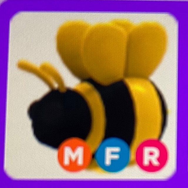 Adopt Me Mega Neon King Bee Mfr Shopee Malaysia