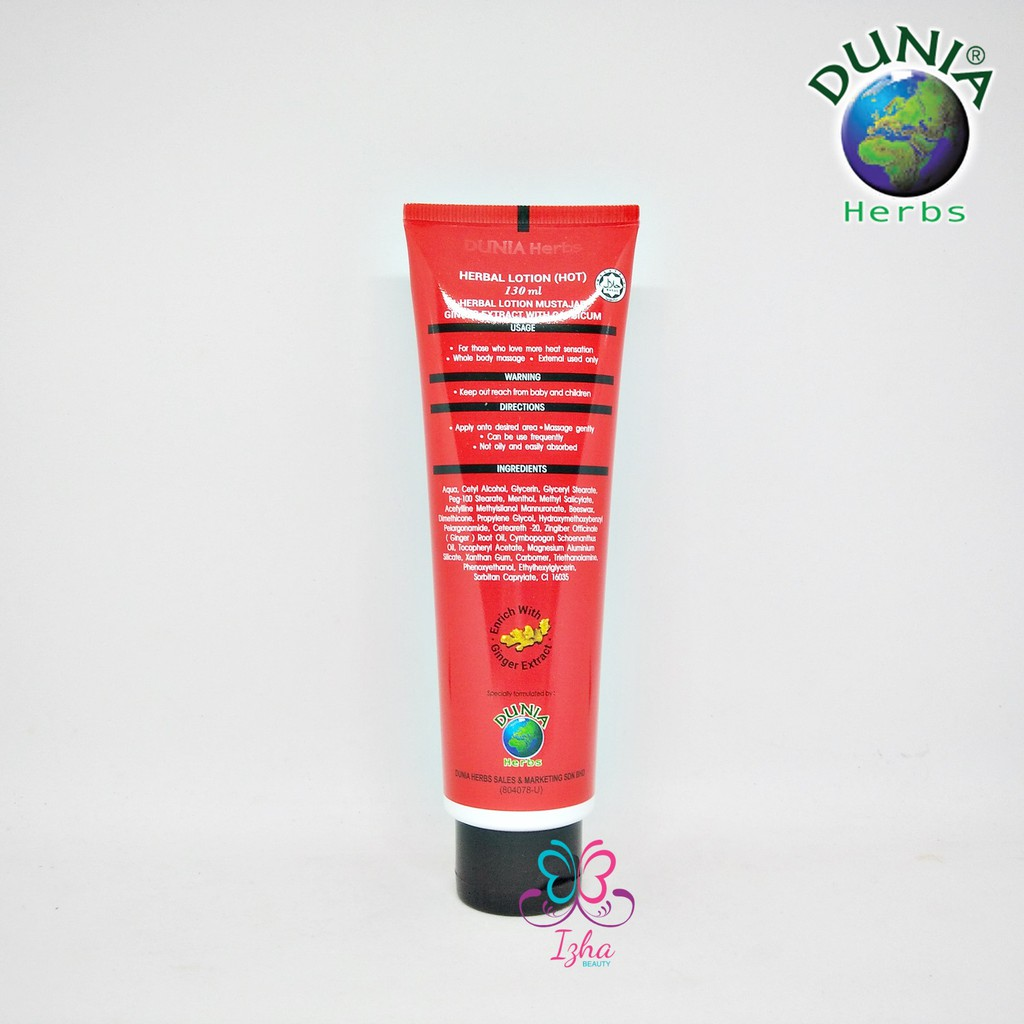 [DUNIA HERBS] Losyen Mustajab Super Hot with Capsicum - 130ml