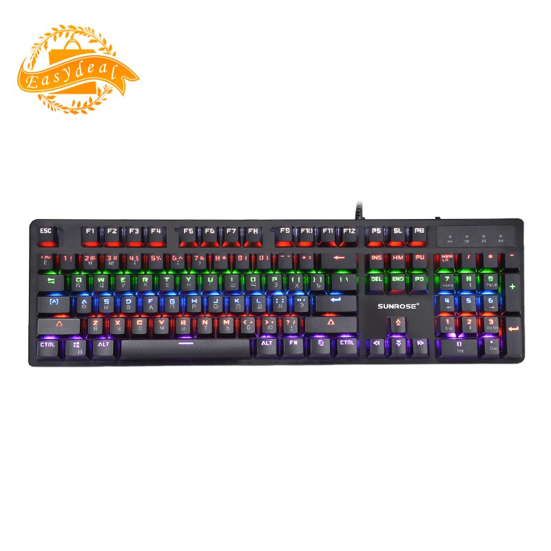 750e72900dc ProductImage. ProductImage. ✌Sunrose Gk20 Usb Russian Language Wired  Keyboard Backlight Splash