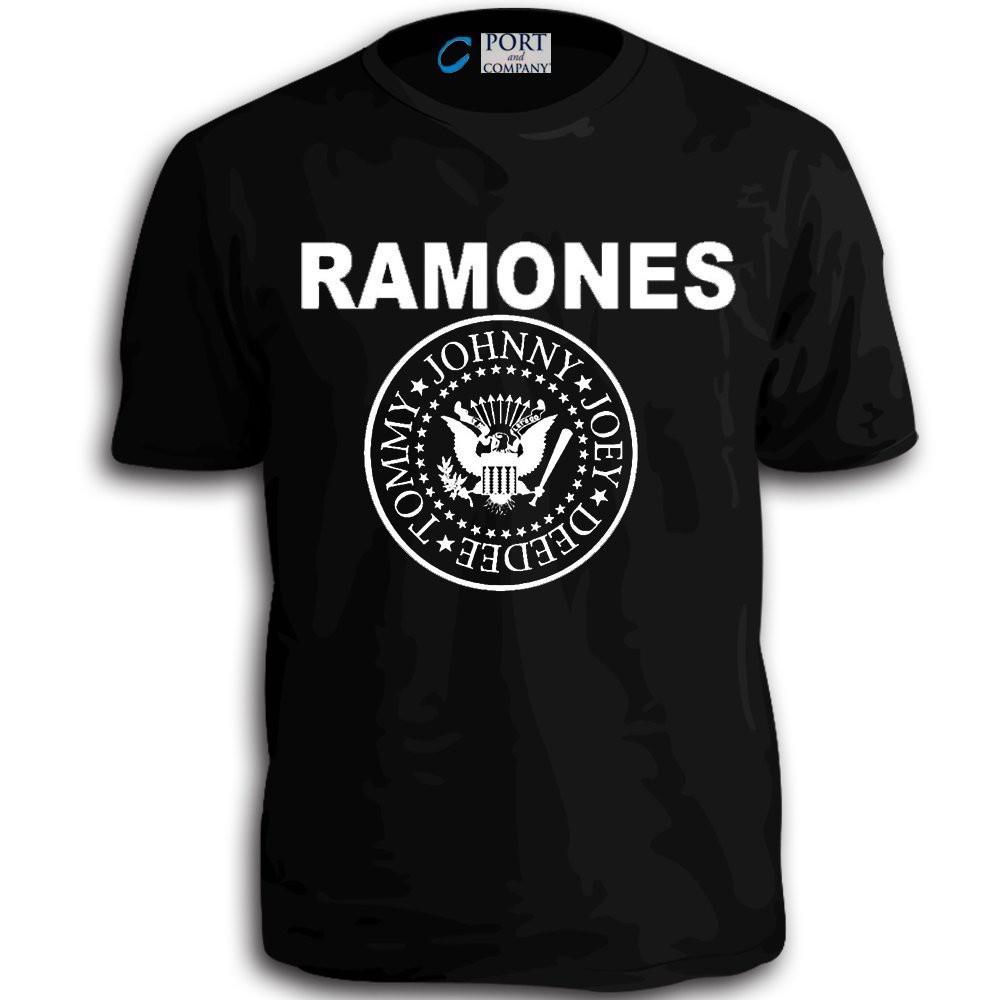 b73fe0ab Fakeda The Ramones Punk Rock Band Classic Vintage 70'S T-Shirt Men Tshirt  Tee Black   Shopee Malaysia