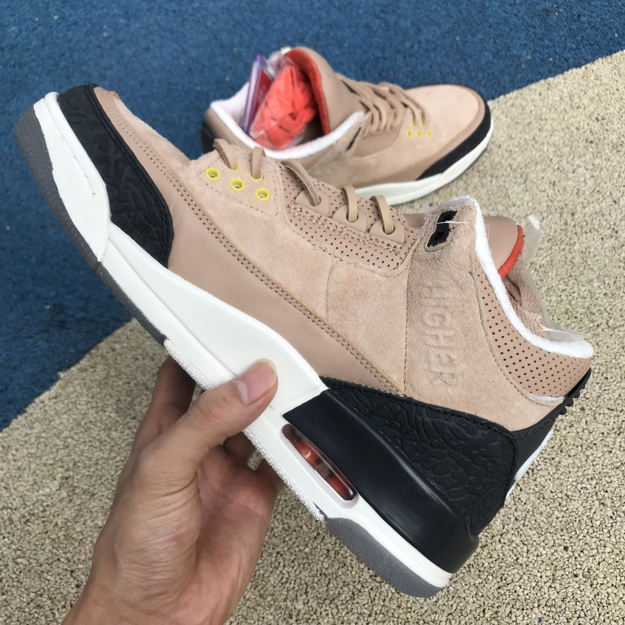 info for a3e95 204a8 Air Jordan 3 JTH Tinker Black Brown Hook Sneakers