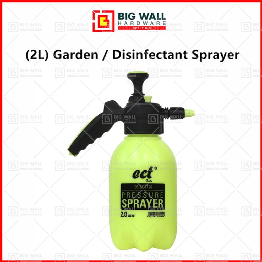 ECT (2L) Heavy Duty Garden / Disinfectant Sprayer Water Pressure Pump Adjustable Spray Nozzle (Big Wall Hardware)