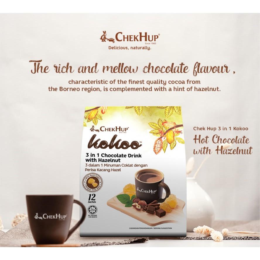 Chek Hup Kokoo 3in1 Chocolate Drink with Hazelnut (40g x 12s)