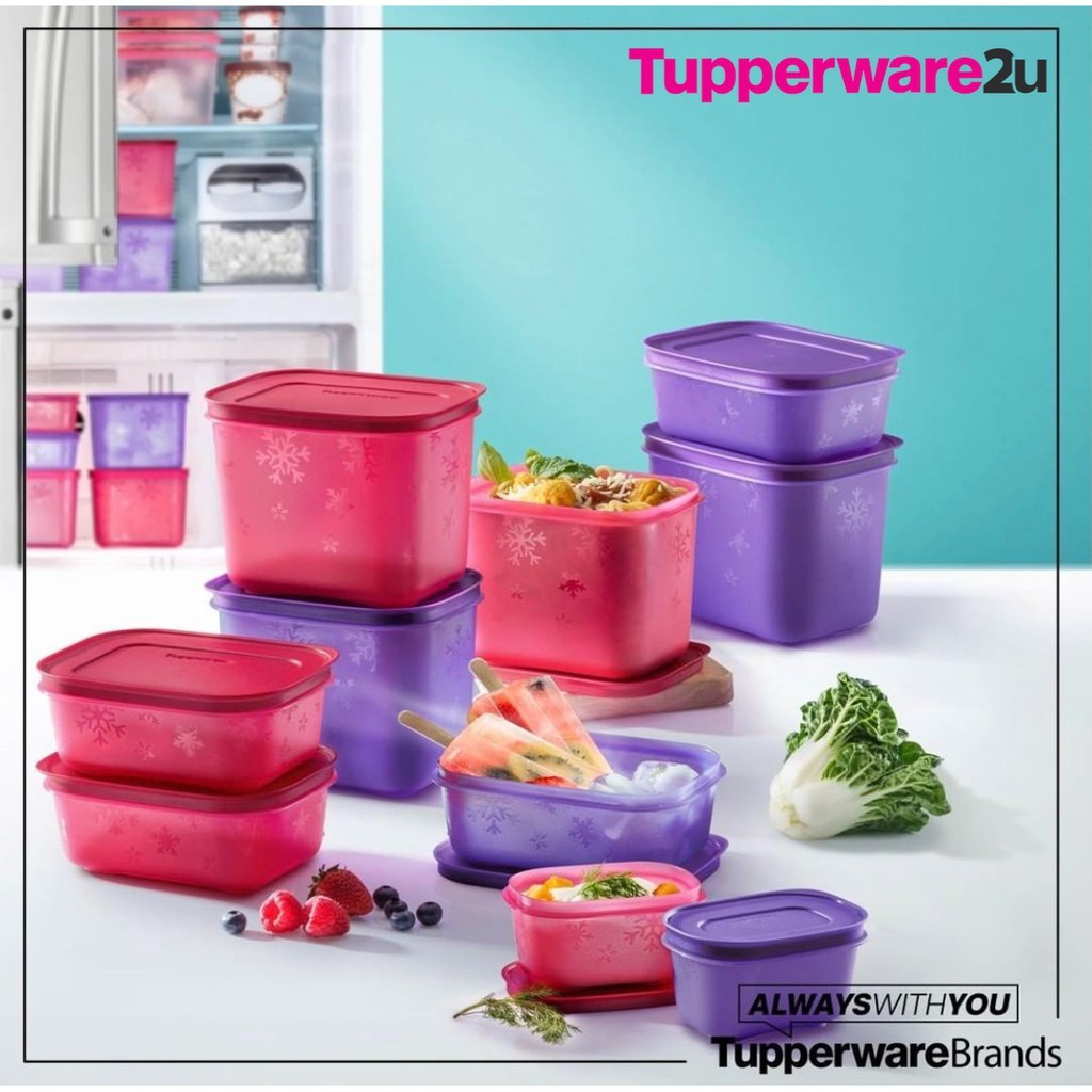 READY STOCK Tupperware Chill Freez Set Small Low 450ml Small High 1.1L and PWP Junior 170ml Chill-Freez Duo Set