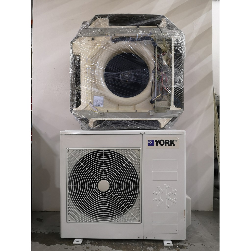 York 2.5HP Cassette Type Used Aircond AC2828/KL Valley **2.0HP/2.5HP/3HP/5HP is Available here**