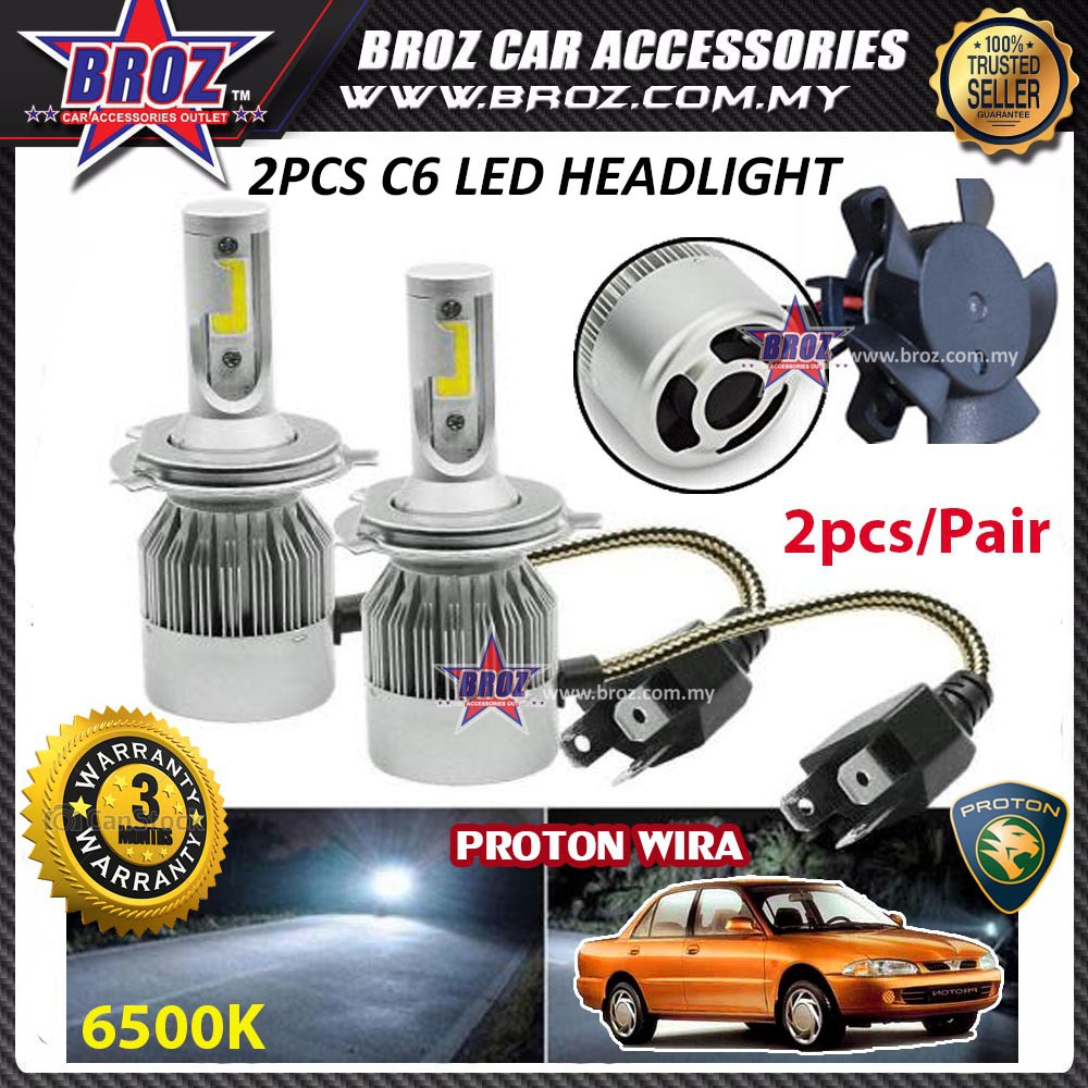 Car Electronics Accessories Egal 2Pcs 36W S2-TX Car IP67 Waterproof Headlight LED Bulbs Lamps Light 6500K for H4/H7/H11/9005/9006 Headlight Bulb Replacement H7