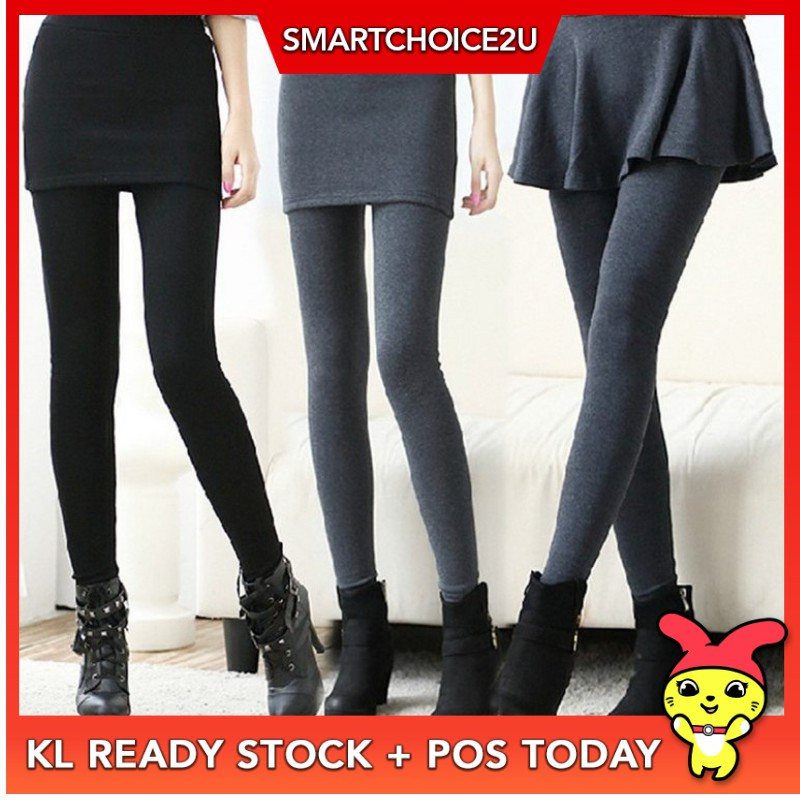 448589473e5b00 L-iko Women 2 In 1 Boot Cut Leggings With Micro Slant Skirt Gothic Punk  Lace Up   Shopee Malaysia