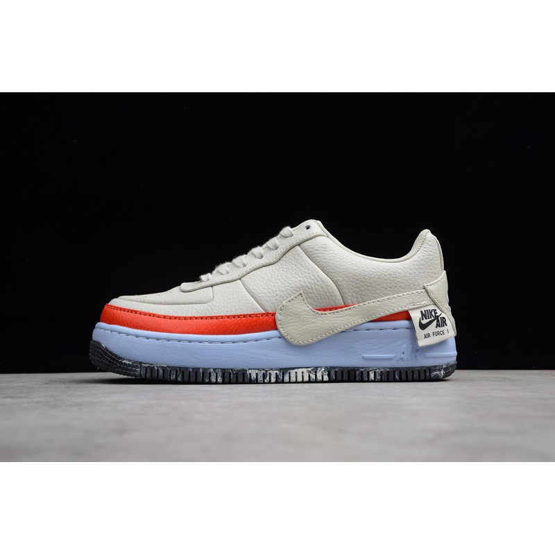 Nike Womens Air Force 1 Jester Light BoneRed AT2497 002