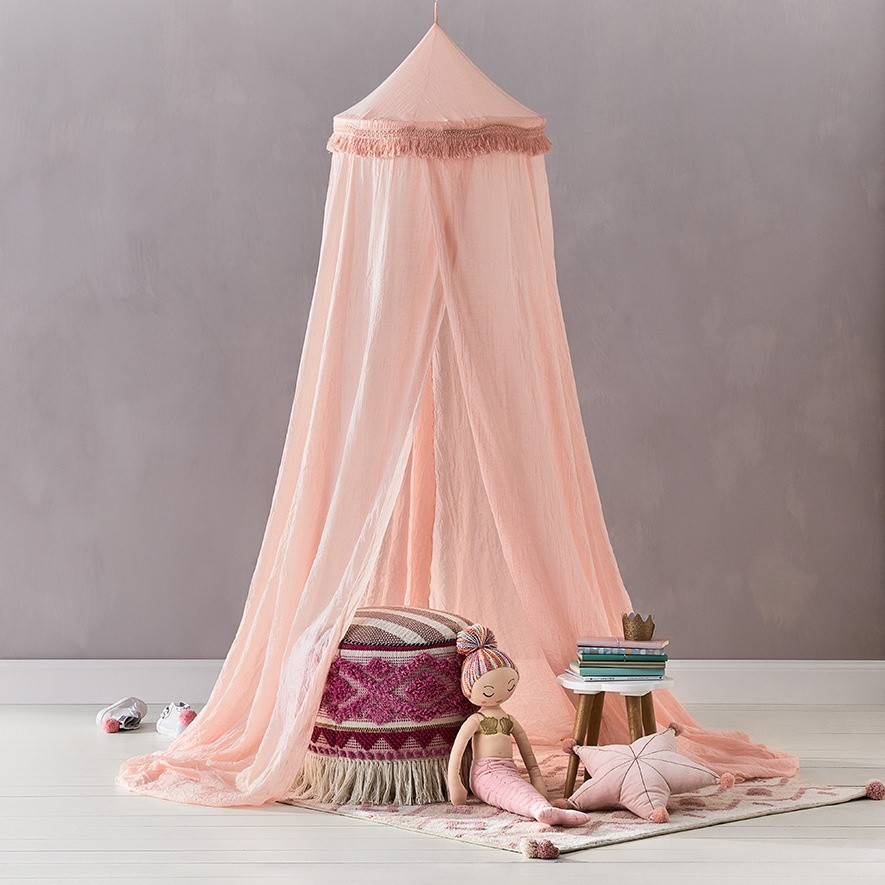 Kids Bed Canopy Hanging Mosquito Net Crib Castle Tent Nursery Play Room Decor