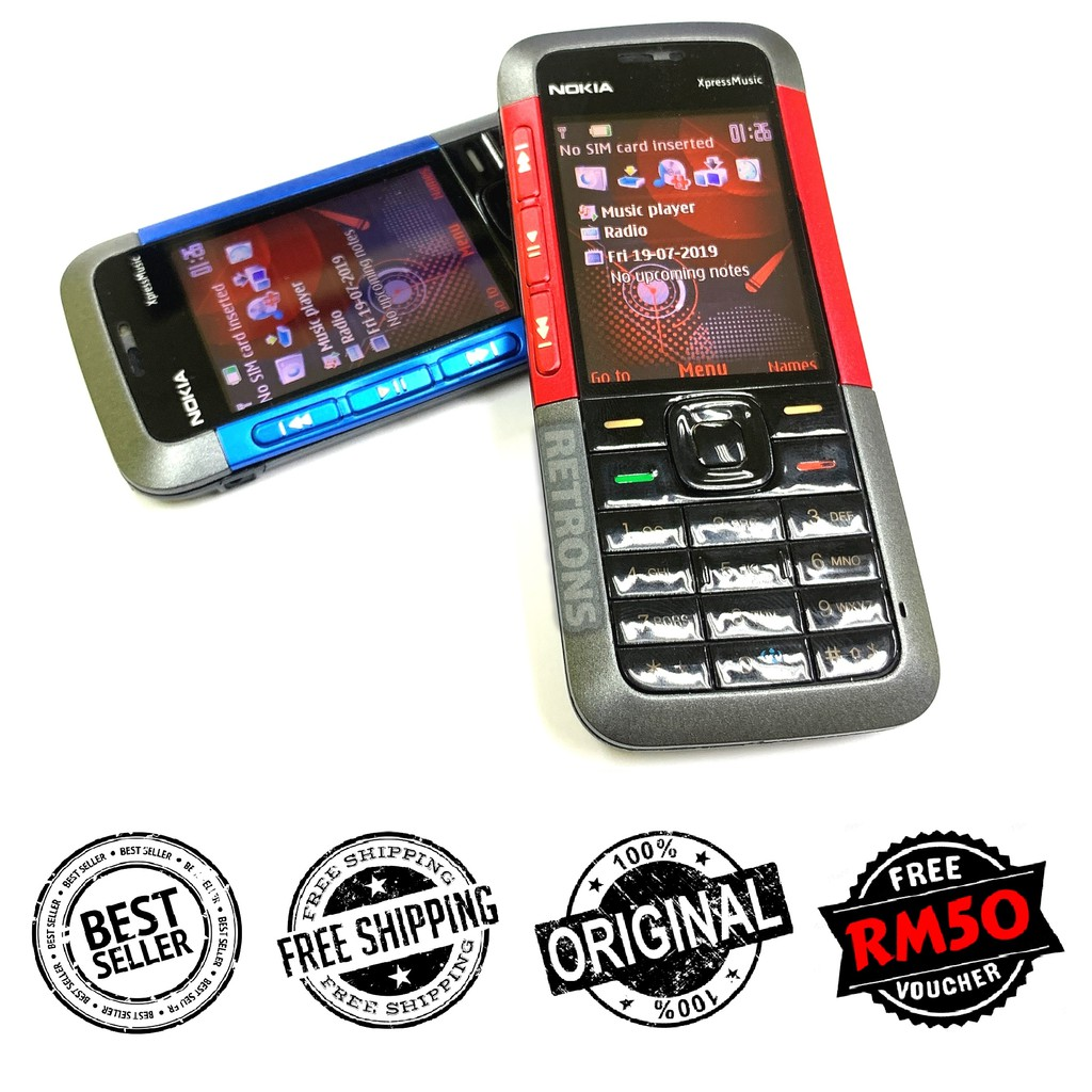 🇲🇾 Ori Nokia 5310 + Extra Battery (x2 Batteries) Xpress Music FREE RM50 Voucher [Premium Refurbished by Retrons]
