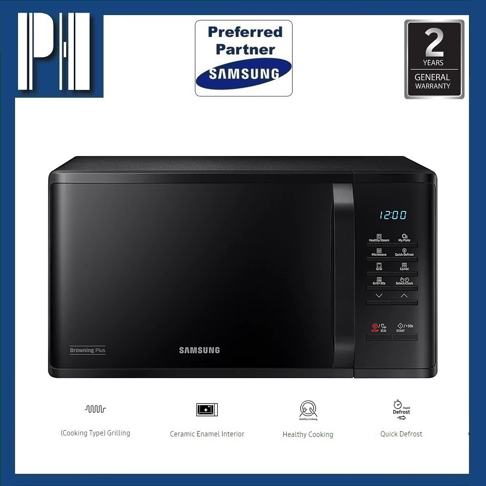 Samsung Grill Microwave Oven With Healthy Steam 23l Sam Mg23k3513gk Sho Malaysia