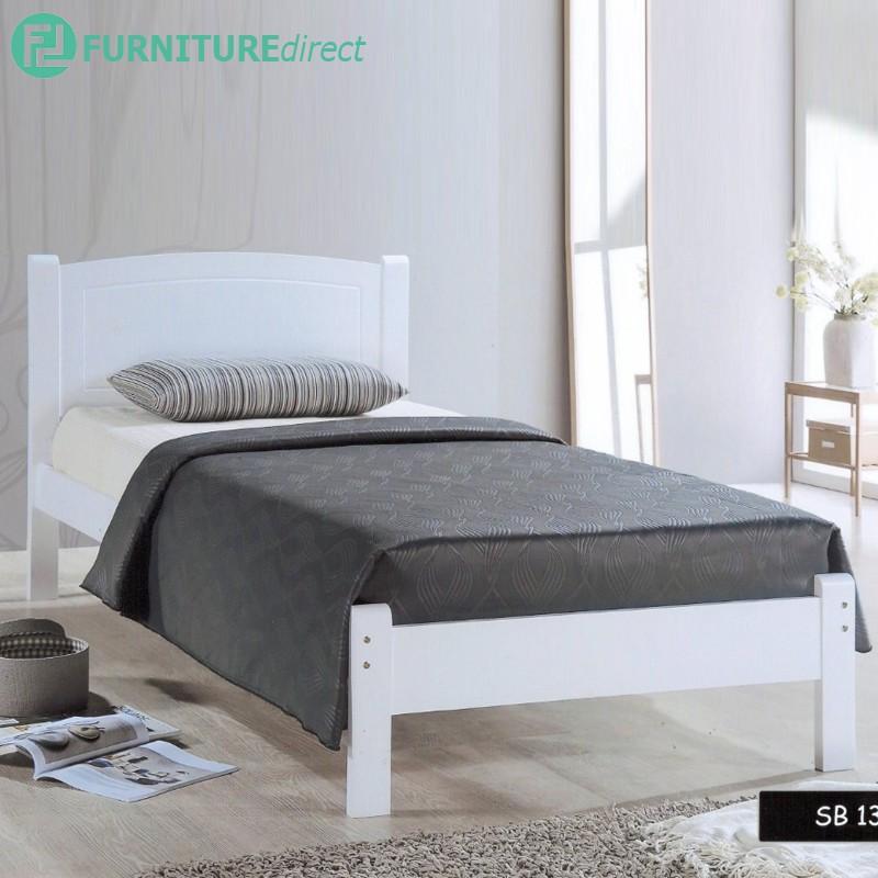 Furniture Direct single bed frame wood/ katil single kayu/ single bed/ wooden single bed