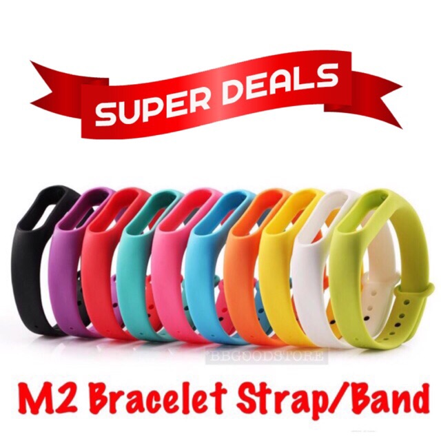 Xiaomi M2 MiBand 2 Bracelet Strap Miband 2 Colorful Wristband Replacement  Band