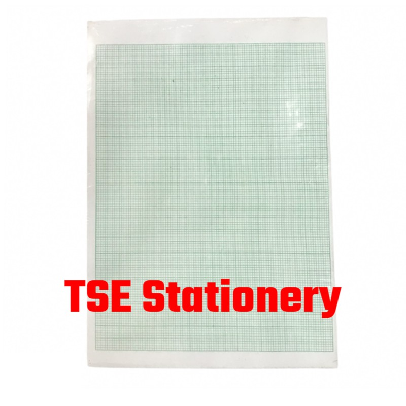 A4 70Gsm 480Sheets Single Side Graph Paper (One Side Single Line)