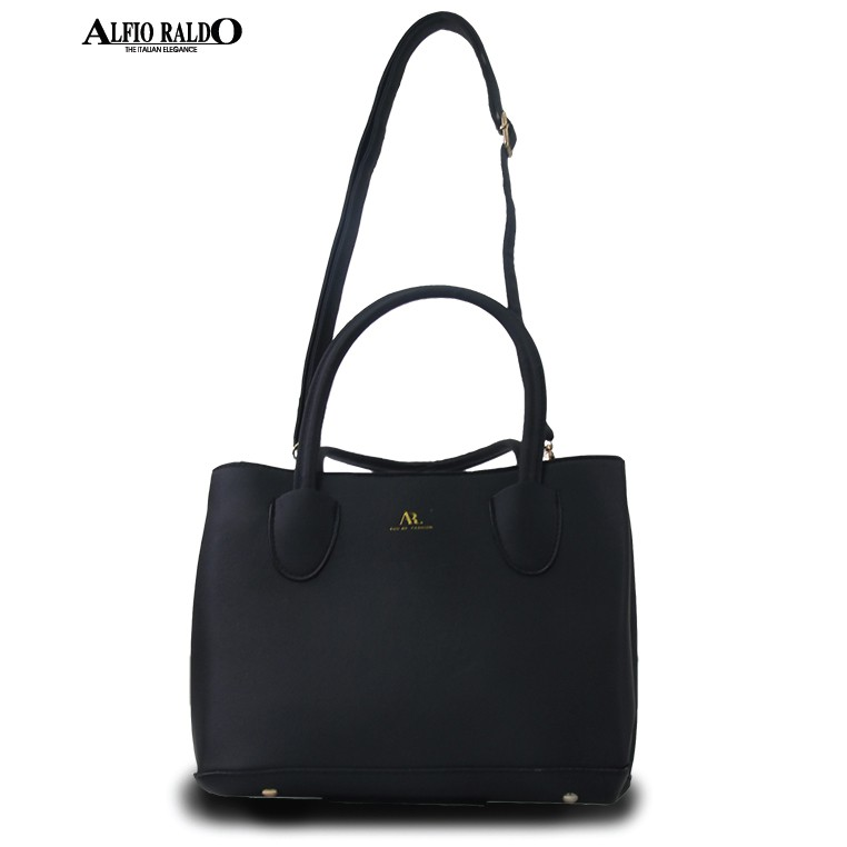 AR by Alfio Raldo Faux Leather Multi Compartment Top Handle Tote Bag