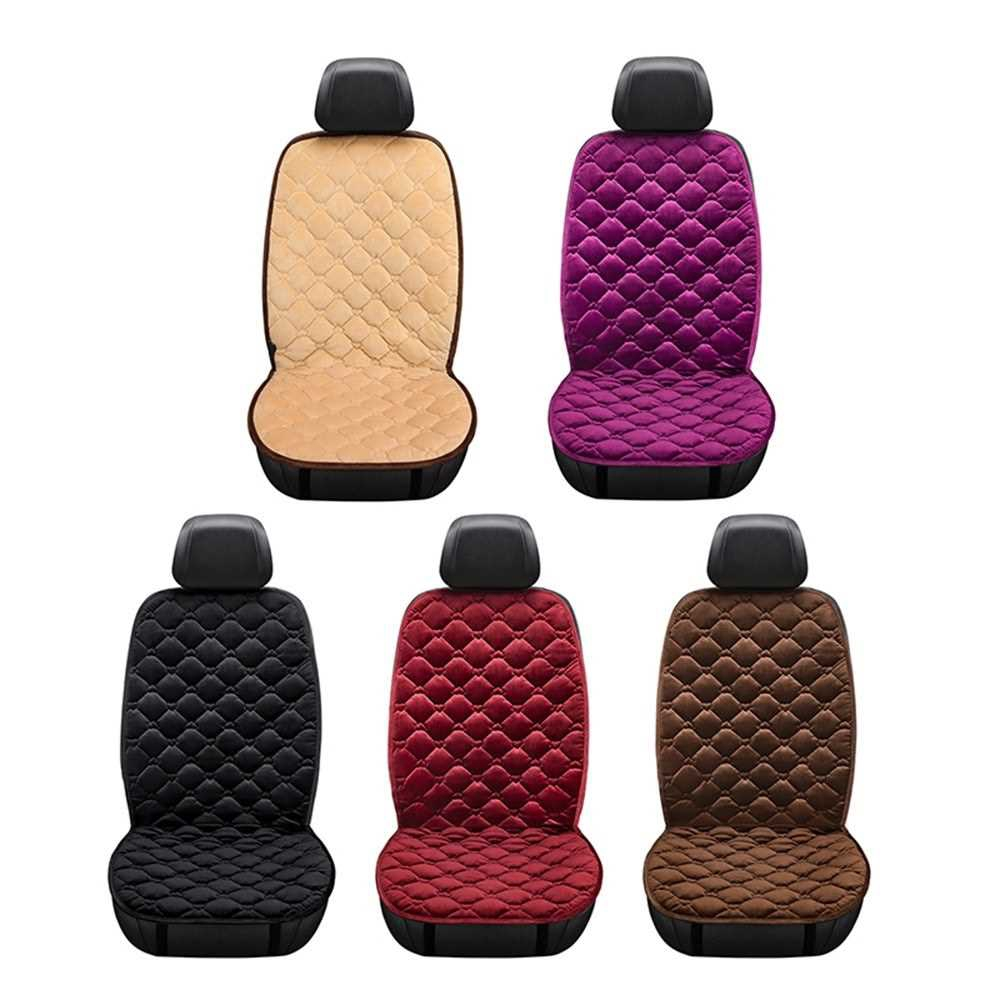 KKmoon 2 PCS 12V Car Front Seat Heating Cover Pad Cushion Black with Intelligent Temperature Controller Winter Heater Velvet