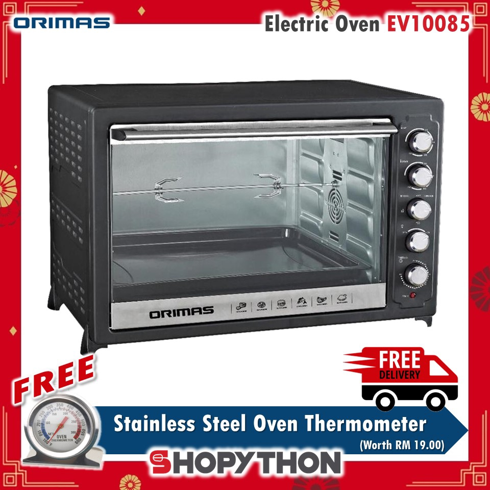 [CNY SALES] ORIMAS Electric Oven 100 Liter EV10085 (100L) Independent Temperature FREE Stainless Steel Thermometer