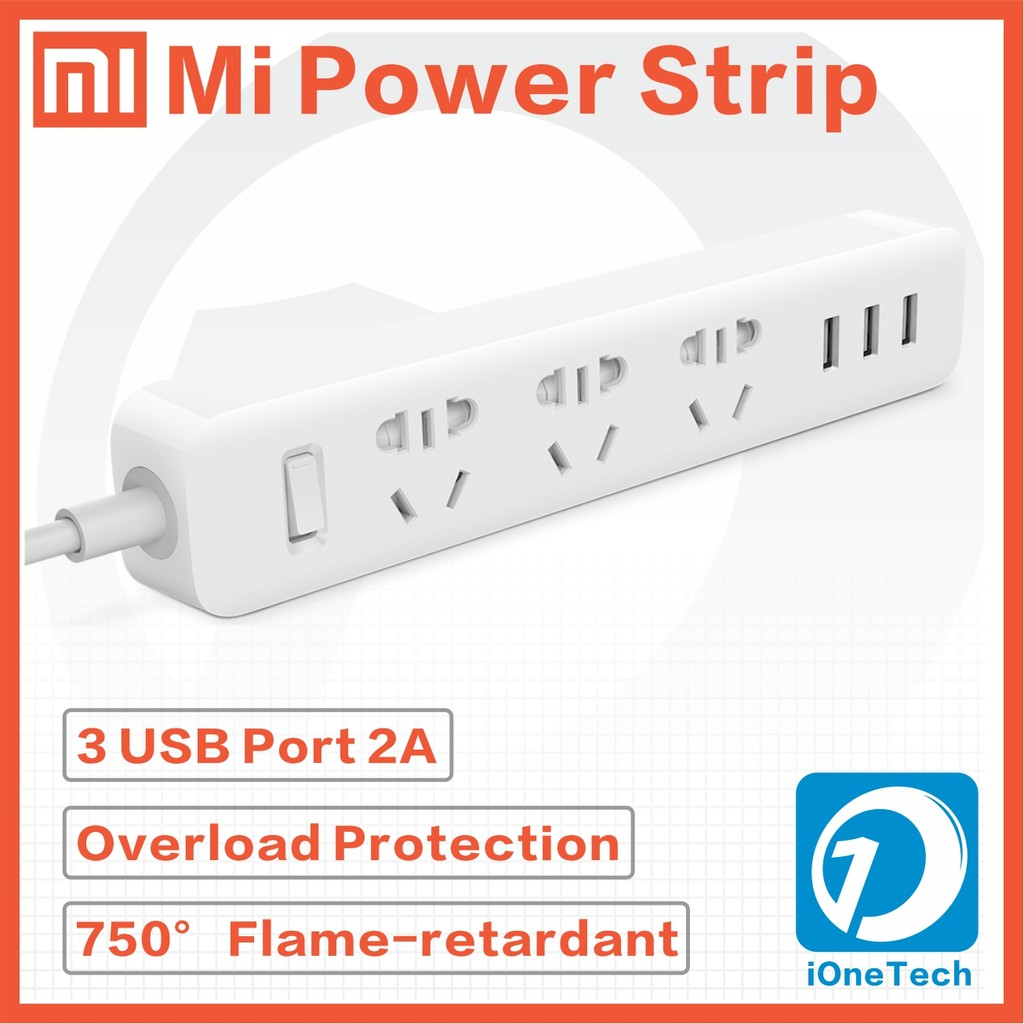 Xiaomi Xiao Mi Dafang Wall Ceiling Mount Shopee Malaysia Smart Power Strip Plug Adapter With 3 Usb Port 2a