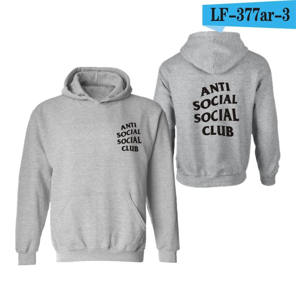 3decd3646 Anti social social club Couple Men Women Fashion Long sleeves Hooded ...