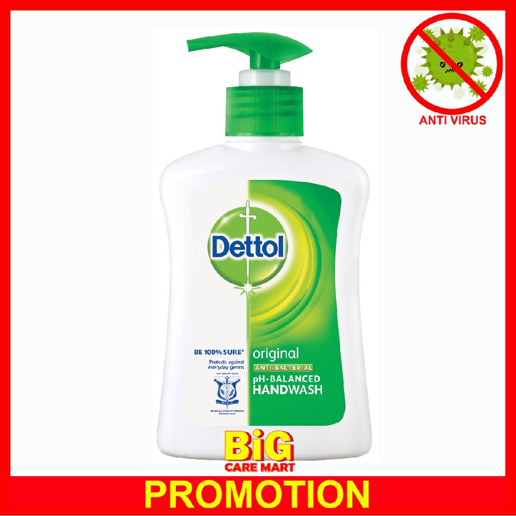 Dettol Hand Wash Soap 250ml Original Anti-Bacterial Disinfectant