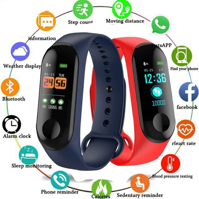 M3 Bluetooth Smart Watch Fitness Tracker smartband Waterproof Bracelet watch